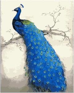 Handwork-gift-Blue-font-b-Peacock-b-font-picture-canvas-DIY-acrylic-paints-painting-by-numbers