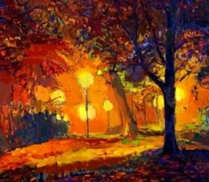 37926945-original-oil-painting-showing-beautiful-autumn-park-lake-and-bench-on-canvas-modern-impressionism