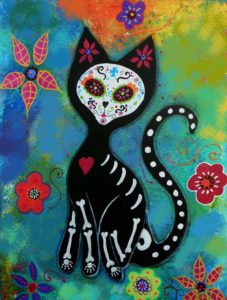 Virtual Art class Halloween Kitty- Sold Out