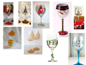 PUBLIC EVENT Holiday Wine glass/Beer glass panting Event