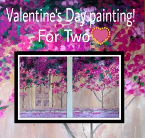 SOLD OUT Public Painting Event - Valentines Bougainvillea Tree- Flying Star Menaul