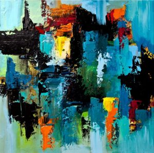 Virtual Art class- Vibrant Abstract Placements