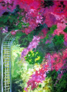 Flying Star  Menaul NE -Painting Event-Bougainvillea Garden Gate