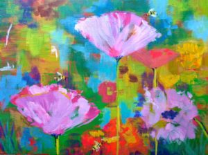 Cheerful Flower Virtual Painting Event