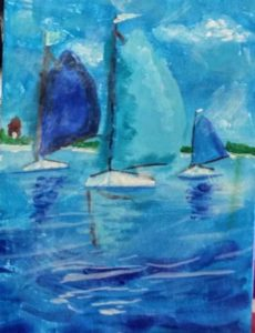 Sail Day Virtual painting event Parent and Child or preteen painting class