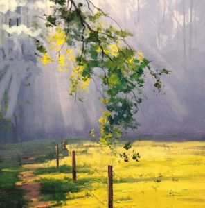 Virtual art class- forest lights 5:30pm