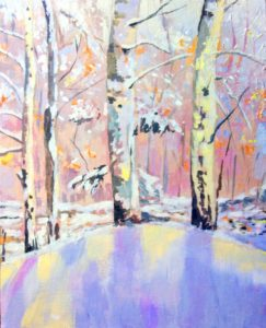 Virtual Art class- Magical Winter