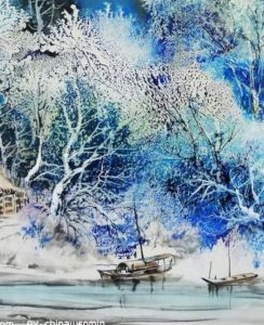 Virtual art class-Asian Winter