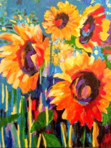 Sunflower Painting event- in person or online